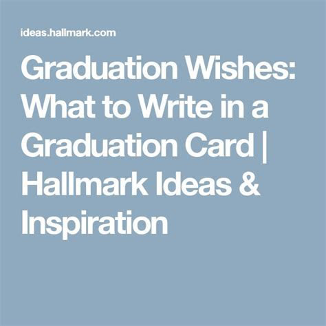 Graduation wishes: what to write in a graduation card