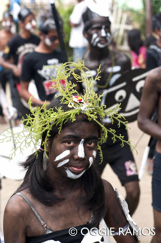 El Nido Barutuan Festival Girl with Leafy Crown