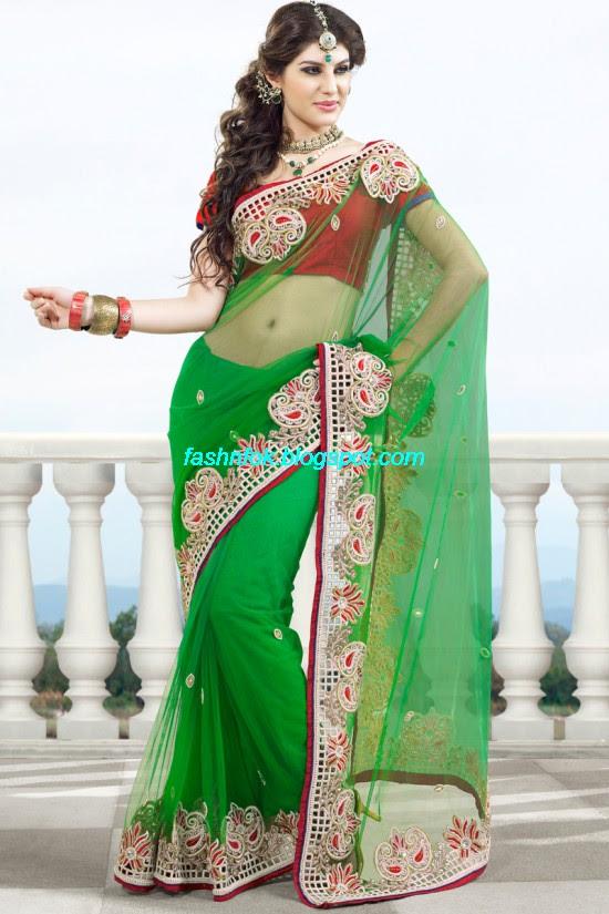 Indian-Brides-Bridal-Wedding-Fancy-Embroidered-Saree-Design-New-Fashion-Hot-Sari-Dress-14