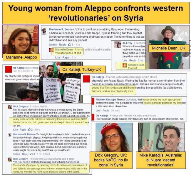Aleppo woman confronts
