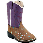 OldWest Old West Toddler Broad Square Toe Boots