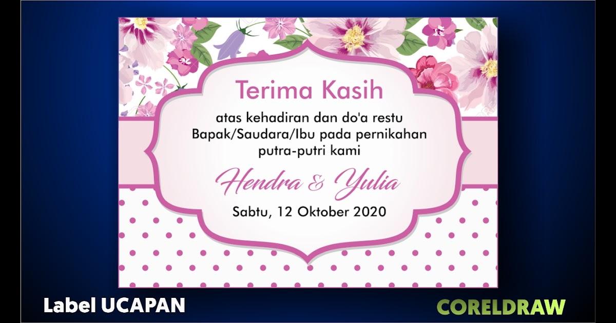 Desain Kartu Ucapan Souvenir Pernikahan Cdr - Quotes 2019 d