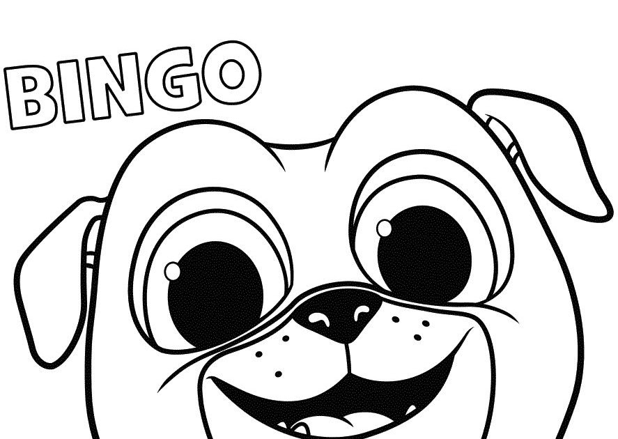 Bingo And Rolly Puppy Dog Pals Popular Easy Coloring Pages