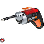 Cordless Electric Screwdriver With Light Extended - 1/4-inch