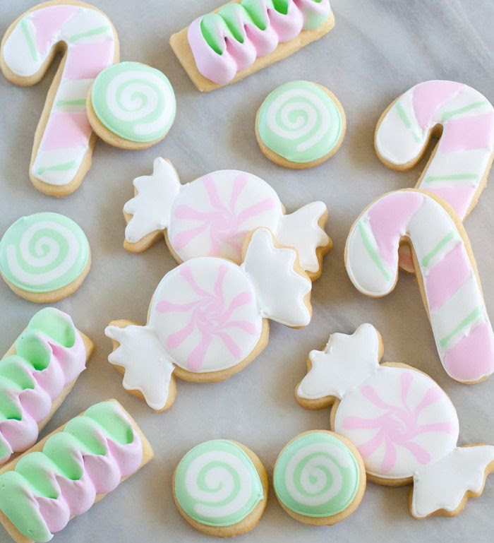 Butter Mint Cut-Out Candy Cookies : recipe + decorating tutorial