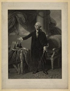 George Washington, painted by G. Stuart; engraved by H.S. Sadd, N.Y. 1844. Prints and Photographs Division.