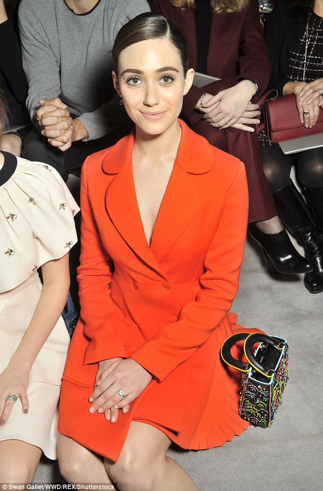FROW pose perfected:The Day After Tomorrow actress sat pretty with her palms crossed as she readied herself for the main event