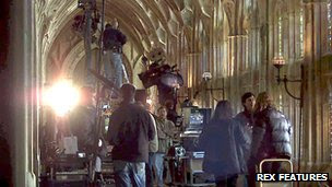 A film set at Gloucester Cathedral