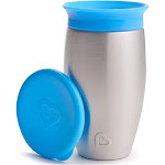 Munchkin Miracle Stainless Steel 360 Sippy Cup, Blue, 10 oz