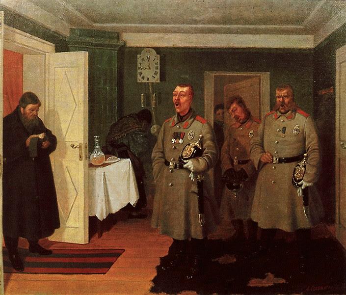 Л. Соломаткин. Славильщики-городовые. 1882