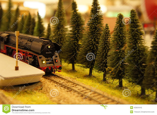 Miniatural Train On The Platform Stock Photo - Image: 45664445