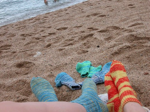 Socken am Meer by Rakita