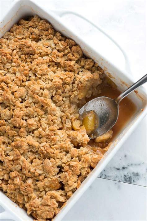easy apple crisp recipe  oats recipe