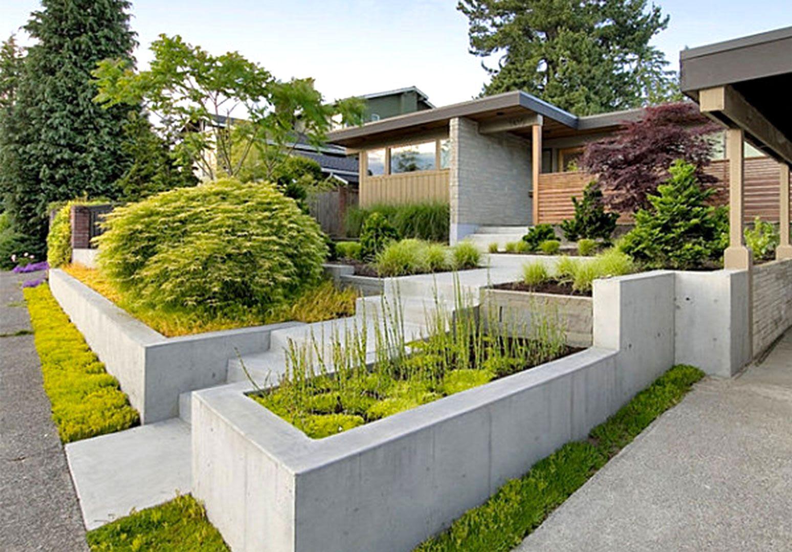 Modern Minimalist Front Garden Designs Prettyretty Garden