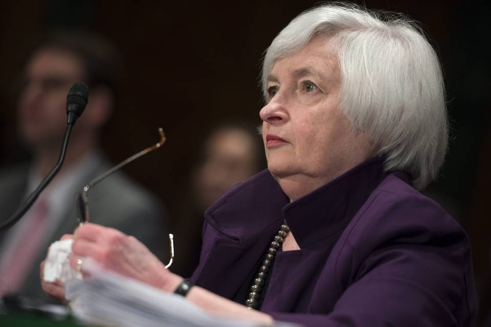 Federal Reserve Chairwoman Janet Yellen is seen in July.