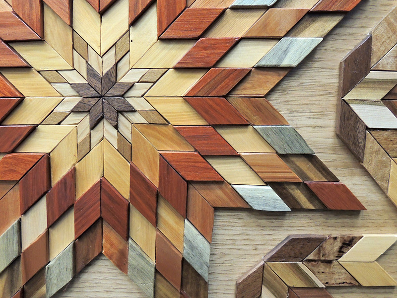 Detail of New Zealand Wood by Ken Morrow, Colorado Quilting Council on Parade