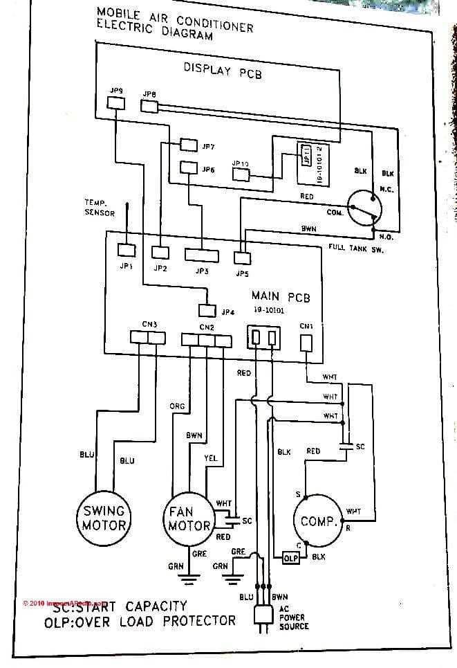ac unit wiring diagram