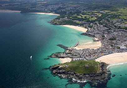 Photo of St Ives | Aerial Views of Cornwall in Cornwall | into Cornwall Photo Gallery | browse photographs online | Cornish scenes by Into Cornwall