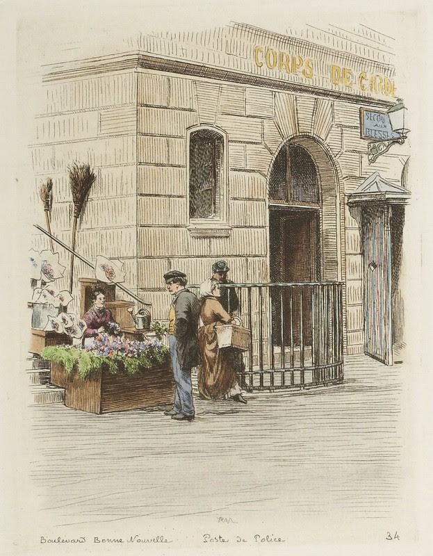 Boulevard Bonne Nouvelle - Poste de Police 1877