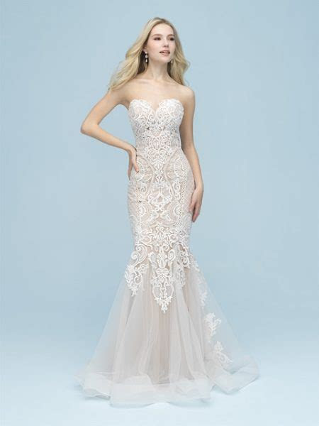 Strapless Sweetheart Lace Fit And Flare Wedding Dress