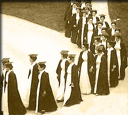 Old Time Picture of Female Scholars