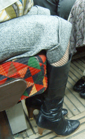 Twiggy Trousers and Fishnets