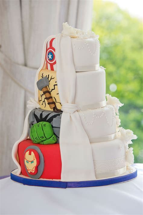 Superhero Wedding Cakes That Will Make Your Day Totally