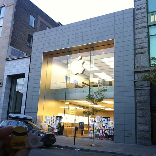 Apple Store, Saint-Catherine。