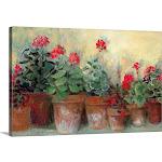 Kathleen's Geraniums | Canvas Wall Art | 30x20 | Great Big Canvas