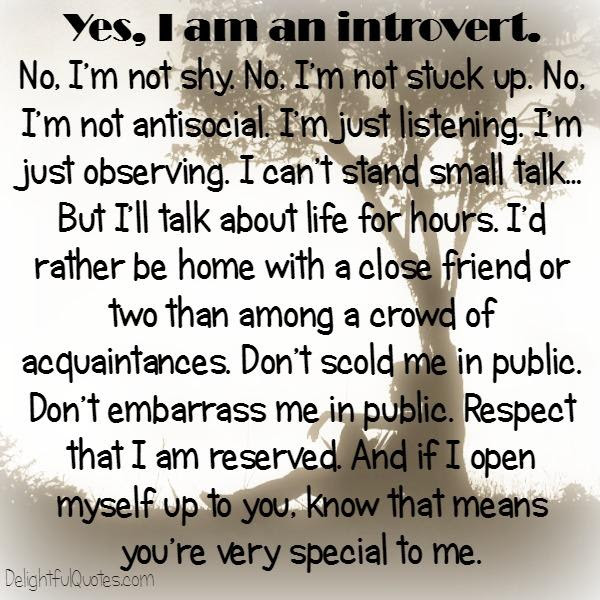 Yes I Am An Introvert Person Delightful Quotes
