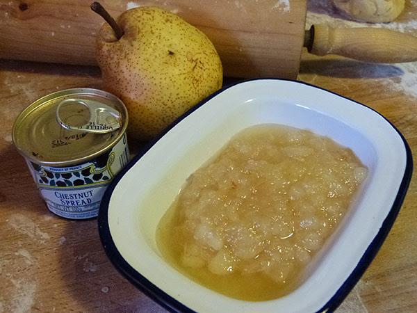 confiture de poire et marrons