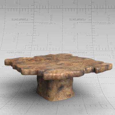 Burr Elm Table 3D Model - FormFonts 3D Models & Textures