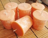 CITRUS TEAKWOOD - Natural Wax Votive Candle 6pk