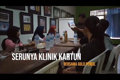 Menyaksikan Serunya Nggambar Bareng di Klinik Kartun Gold Pencil