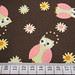 tecido importado: corujinhas fundo marrom - IMP/27
