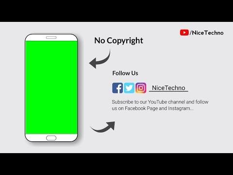 Subscribe Green Intro • Chroma key • No Copyright • Nice Techno