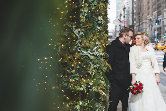 Festive NYC Elopement at Grand Central and Bryant Park - Kara and Adam
