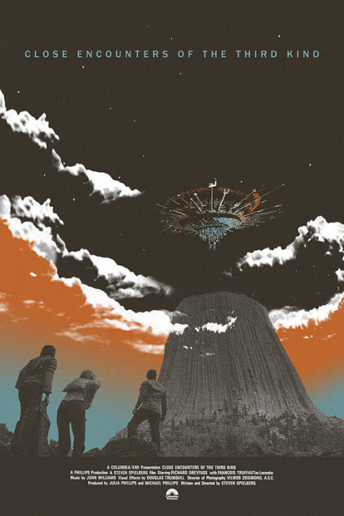 Close Encounters of the Third Kind poster by Adam Juresko