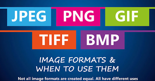 The Ultimate Image Format Cheat Sheet (Infographic)