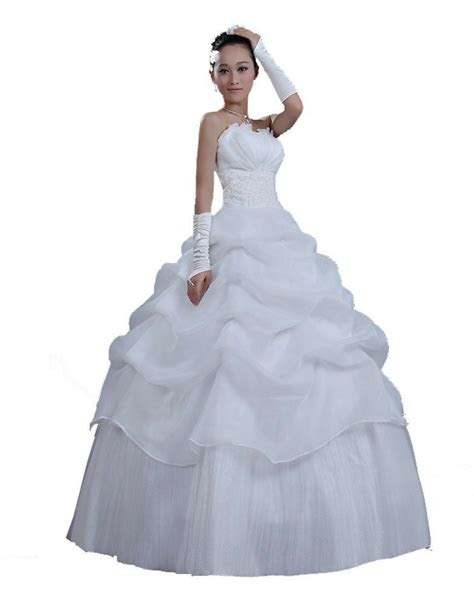 cheap good quality strapless womens wedding dresses