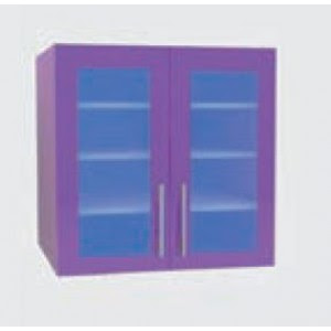 Wall Mounted Cabinets With 2 Glass Doors 45 Cm Mobiclinic