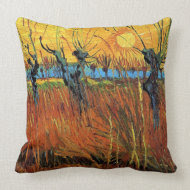 Willows at Sunset by Vincent van Gogh. throwpillow