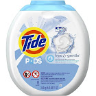 Tide PODS Laundry Detergent Pacs, Free & Gentle - 81 count tub