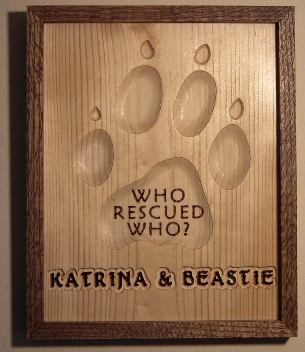 Who Rescued Who Sign By 3dbme At Lumberjockscom Woodworking