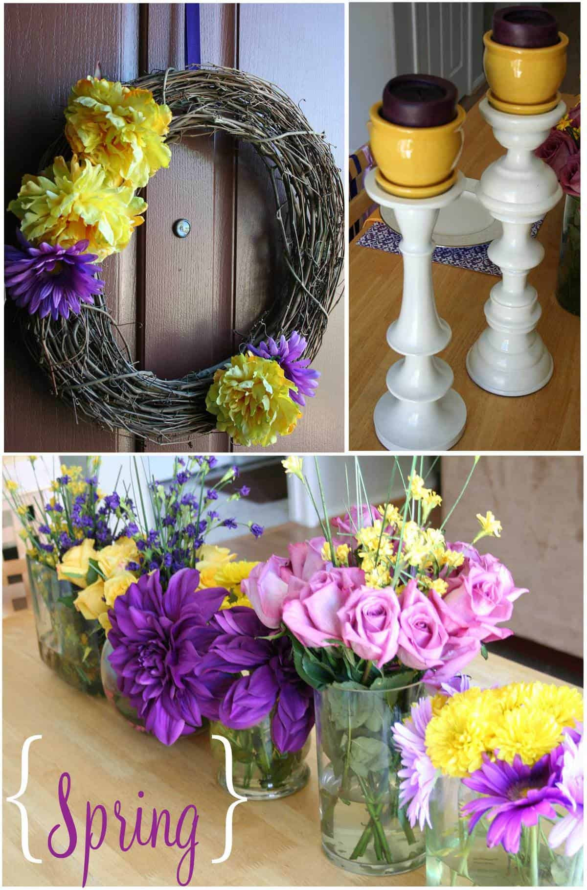 Purple Yellow Dinner Party Thoughtfully Simple