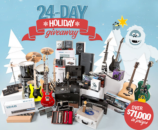 Sweetwater 24-day Holiday Giveaway!