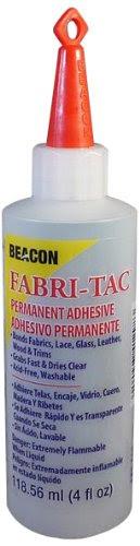 Beacon Fabri-Tac Permanent Adhesive, 4-Ounce