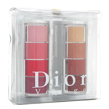 Christian Dior Dior Voyage Colour Lip Case: Brown & Pink Collection ( 2 Sets of 4 colours x 2g)