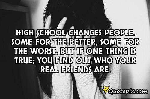 Quotes About Change High School 43 Quotes