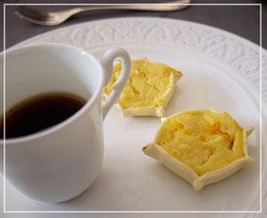 素朴なリコッタチーズの焼き菓子も、サルデーニャのもの。